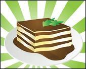Dessert à base de mascarpone et de biscuit saupoudré de cacao :