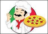 Pâte salée à la garniture variée (tomates, olives, fromage, etc... ) :