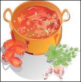 Préparation à base de poissons, de viandes ou de légumes, cuits dans une sauce :