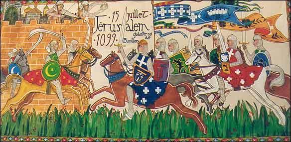 Quel sultan effectue la reconquête de Jérusalem en 1187 alors qu'elle était tombée entre les mains des croisés ?