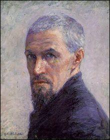 Quel est ce peintre français impressionniste, collectionneur et mécène, qui a rélisé son autoportrait en 1892, deux ans avant sa mort ?