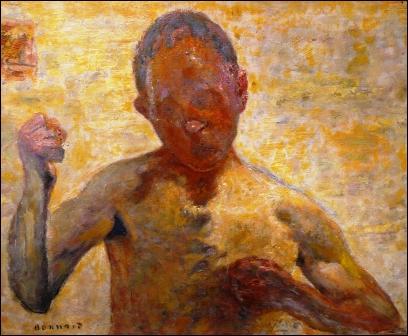 Le boxeur , autoportrait réalisé en 1931, par le peintre appelé par ses amis le  nabi japonard  qui a, à ce moment, 64 ans.