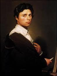Les autoportraits jalonnent sa très longue carrière. Il a sur celui-ci 24 ans, dix ans avant  La grande Odalisque , exposée au musée du Louvre. Il s'agit de :