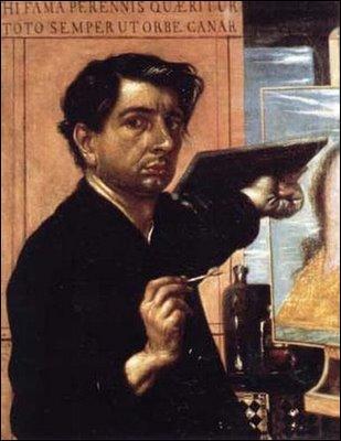 Quel artiste italien a réalisé cet  Autoportrait à la palette , en 1924, à l'âge de 36 ans ?