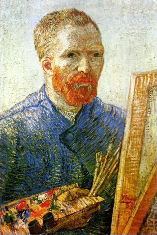 Il a 35 ans lorsqu'il se représente dans cet  Autoportrait au chevalet  (1888), Il s'agit de :