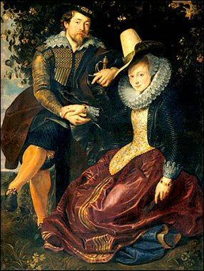 Ce peintre baroque flamand s'est représenté ici avec sa première femme, Isabella Brant. De qui s'agit-il ?