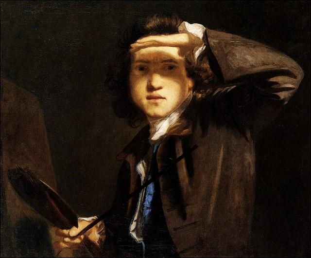 Anglais, comme le peintre précédent, je me spécialise dans les portraits de la haute société sur fond de nuages noirs.