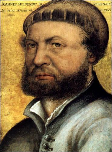 Je suis un célèbre peintre de la Renaissance germanique. J'ai peint  Les Ambassadeurs  et des portraits d'Henry VIII Tudor.