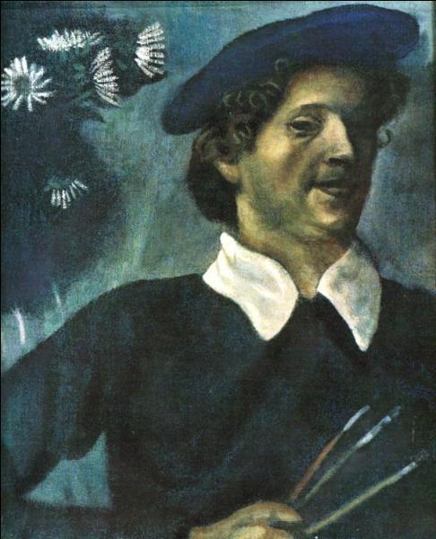 Originaire de Biélorussie, je peins le folklore juif dans un style coloré et onirique.