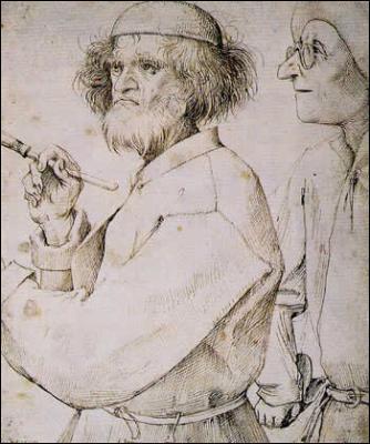 Je suis un Flamand du XVIème siècle, surnommé  le Drôle , car j'aime peindre les fêtes et les jeux villageois.