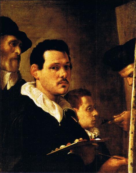 Rival du Caravage, je suis italien comme lui. Ici je me trouve avec mon père et mon neveu.
