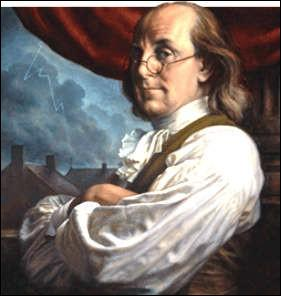 Comment s'appelle ce savant et homme politique américain, l'un des signataires de la Déclaration d'indépendance des Etats-Unis, inventeur du paratonnerre ?