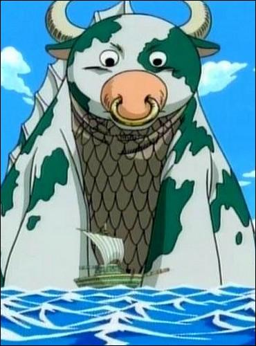 Épisode 33 - Comment s'appelle le monstre marin originaire de Grand Line qui  aide  Luffy, Sanji et Yosaku à arriver plus vite à Arlong Park ?