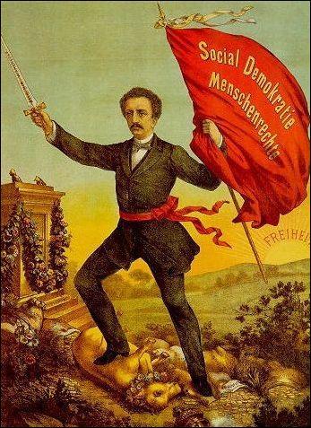 Quelles sont les initiales du tout premier parti socialiste allemand ?