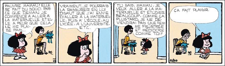Que fait plaisir à Mafalda ?