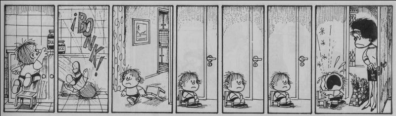 La formule > semble bien profiter au petit frère de Mafalda qui s'en sert pour manipuler sa maman. Nous parlons bien évidemment de...