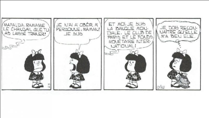 Cette maman qui croit porter la culotte ! Qui est Mafalda, en fin de compte et après tout ? ! À vous de le découvrir !