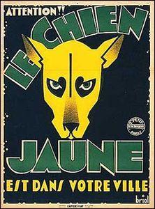 Qui a écrit  Le chien jaune  ?