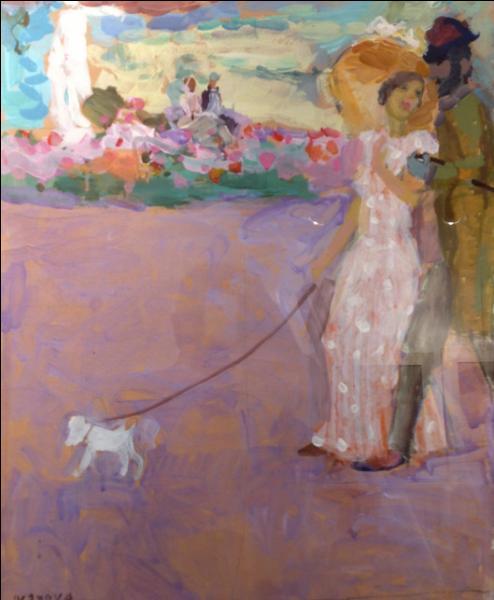 Quel écrivain russe est l'auteur de  La dame au petit chien , nouvelle écrite en 1899 ?