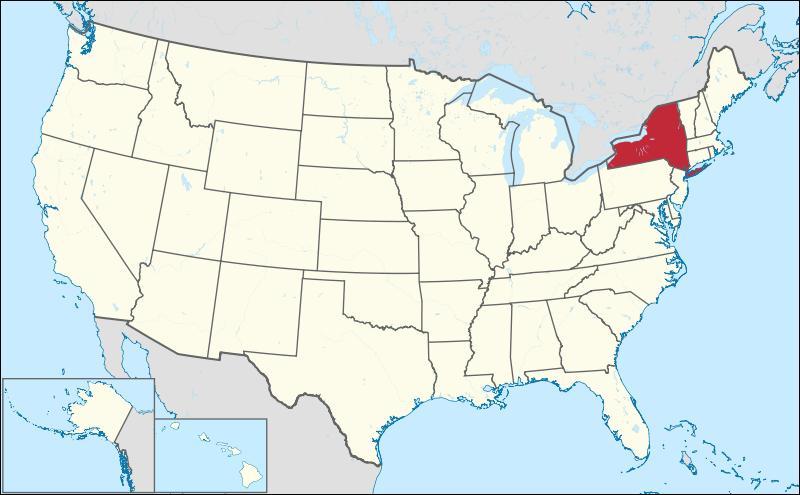 Vous reprenez l'avion et vous vous envolez vers l'État de New York. Vous réfléchissez à ses États limitrophes. Quel est le seul de cette liste qui est un État frontalier de New York ?