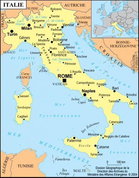 Sur le drapeau italien, la couleur qui se trouve à droite est le :