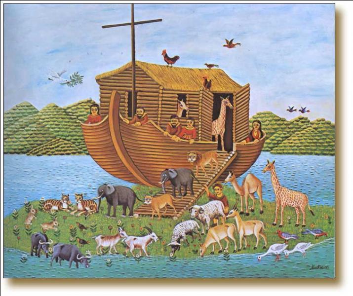 Selon la tradition, quel est l'oiseau que Noé envoya en reconnaissance après le déluge, pour savoir si les eaux s'étaient retirées ?