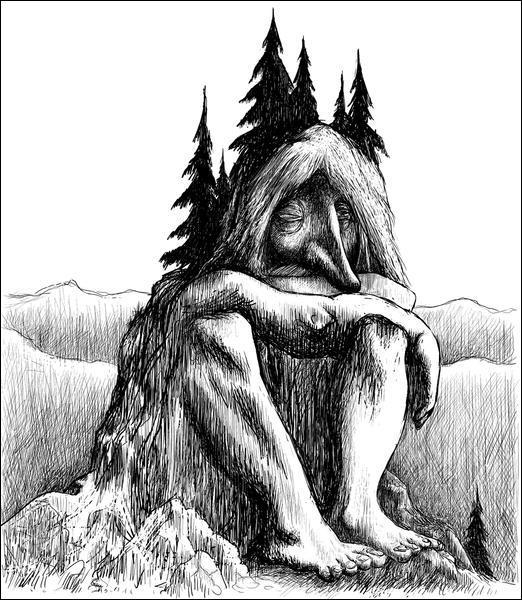 Un être vivant dans les montagnes ou les buttes. C'est :