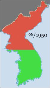 A la fin de la guerre contre le Japon, Etats-Unis et URSS décident d'occuper temporairement la Corée pour désarmer les troupes japonaises. Quelle est la limite fixée entre les deux zones d'occupation ?