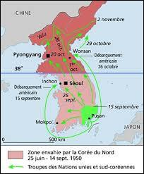 Devant la contre-offensive de l'ONU en septembre 1950, les Nord-Coréens reculent et les troupes de l'ONU s'emparent d'une grande partie du territoire de la Corée du Nord et atteignent par endroits la frontière chinoise. Que se passe-t-il alors ?