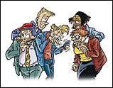 Dans quelle bande dessinée peut-on voir ces personnages ?