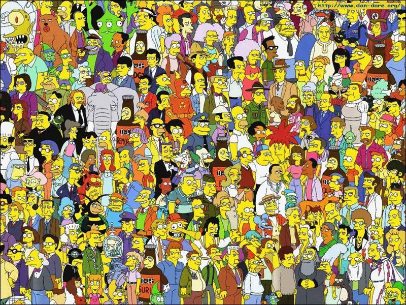Quelle est la couleur des cheveux de Marge ?