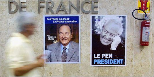 En 2002, quel événement politique est-il l'occasion de nombreuses manifestations en France ?