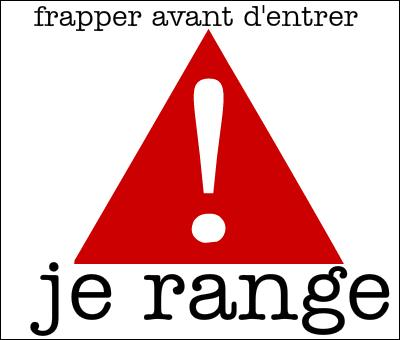 Comment dit-on  ranger  en anglais ?