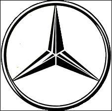 La célèbre étoile à trois pointes qui symbolise la terre (automobile), la mer (motonautisme) et l'air (aviation et dirigeables) n'est autre que ...