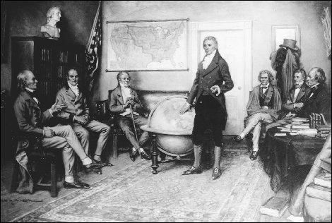 Quel est le nom de la doctrine énoncée par le gouvernement américain en 1823 déclarant que l'intervention militaire des européens en Amérique est interdite et vice-versa ?