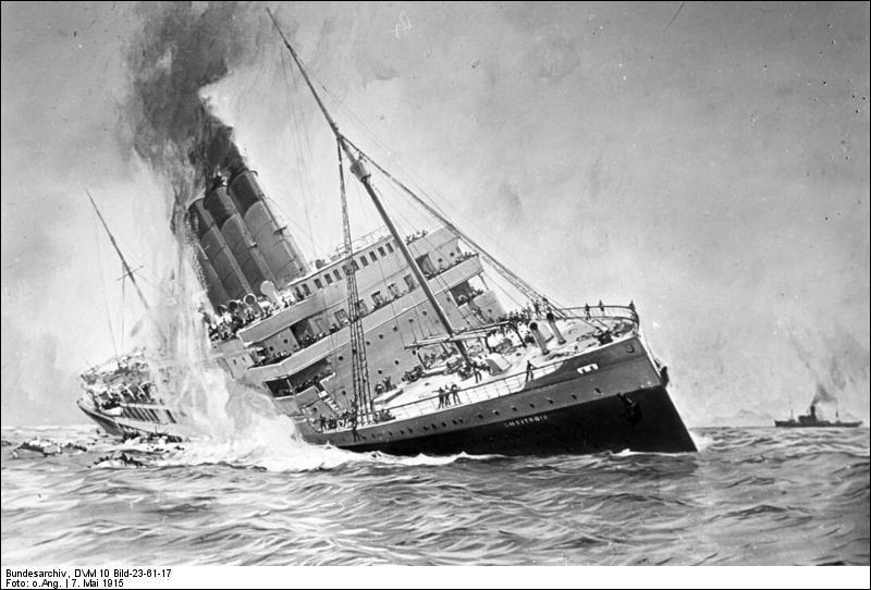 En 1915, la flotte des sous-marins allemande torpille un paquebot transatlantique sur les côtes irlandaises, participant à la montée des tensions entre les Etats-Unis et l'Allemagne. Quel était son nom ?