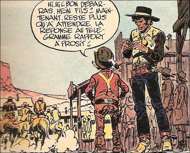 Né des gouaches de Gir et sur un scénario de Charlier, c'est un soldat de la cavalerie. Il se nomme: ?