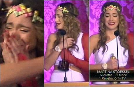 Sur la photo, Martina pleure car elle a reçu son premier Oscar. Mais dans quelle nomination ?