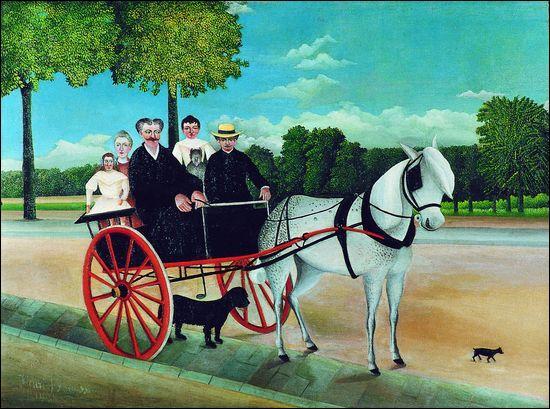 A quel peintre, considéré comme le représentant majeur de l'Art naïf, doit-on  La carriole du Père Junier  ?