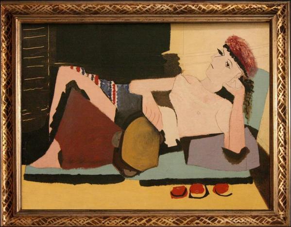Quel peintre cubiste a représenté cette  Femme au tambourin  ?
