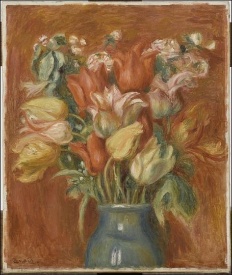 Quel peintre impressionniste né à Limoges, a réalisé ce  Bouquet de tulipes  en 1905 ?