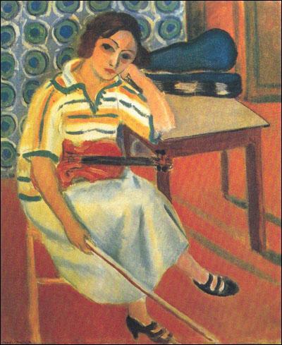 Musicien lui-même, il pratiquait le violon, et a souvent représenté cet instrument dans ses toiles, notamment  Femme au violon . Qui est ce peintre fauviste ?