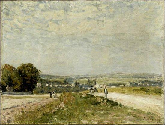 A quel peintre impressionniste doit-on  Chemin de Montbuisson à Louveciennes  ?