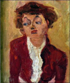 A qui doit-on cette huile sur toile,  La jeune anglaise , peinte en 1934 ?