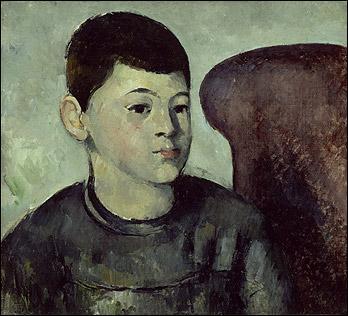 Qui a représenté son fils en blouse d'écolier dans ce tableau intitulé  Portrait du fils de l'artiste  ?