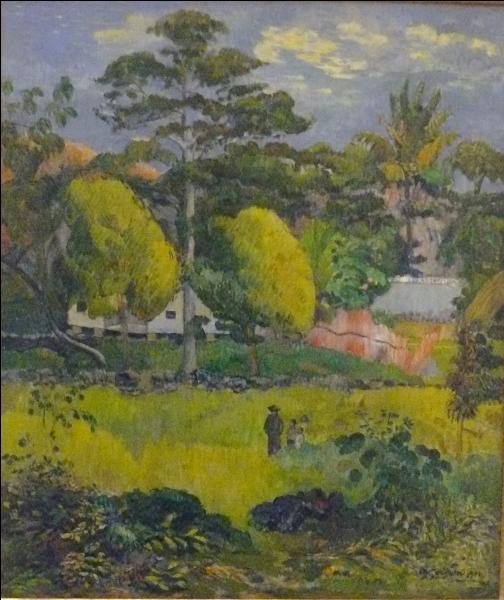 Ce tableau, intitulé  Paysage , peint en 1901, représente les îles Marquises où le peintre débarque pour s'y installer à la même époque. Qui est ce peintre ?
