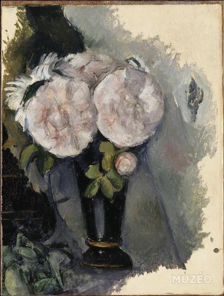 Quel artiste, ami d'enfance de Zola, a peint ces  Fleurs dans un vase bleu  ?