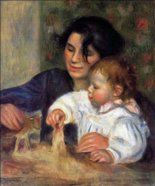 Qui a représenté son fils jouant avec sa nounou, également modèle du peintre, dans ce tableau intitulé  Gabrielle et Jean  ?
