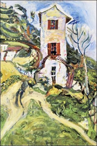 A quel peintre expressionniste russe doit-on cette toile intitulée  Maison blanche  ?