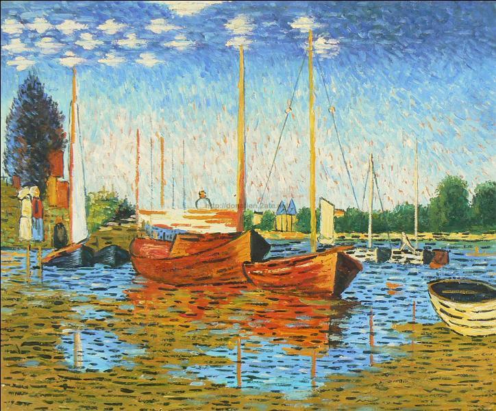 Quel artiste impressionniste a peint  Bateaux rouges à Argenteuil  ?